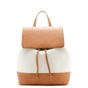 Sole Society Two-Toned Leather Backpack